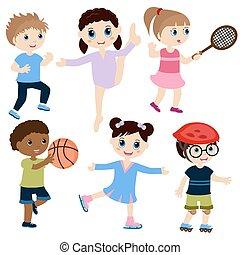 desporto, crianças