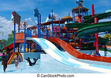 desporto, família, activitity., frança, feliz, splash., água, ativo, vacation., 26.07.2020, experiência., estilo vida, verão, antibe