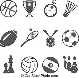desporto, icons.