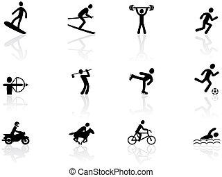 desporto, jogos, ícones