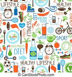desporto, Padrão, dieta, condicão física