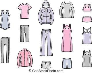 desporto, roupas