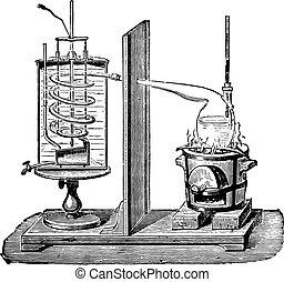 Despretz apparatus, vintage engraving.