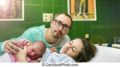 después, pocos, nacimiento, nena, minutos