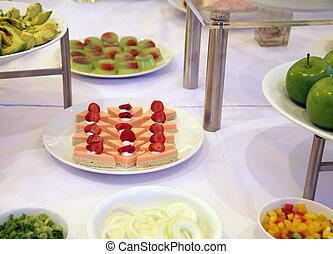 Dessert at buffet dinner