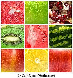 dessert background - The dessert background. Collage from...