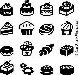 Dessert & bakery icon set