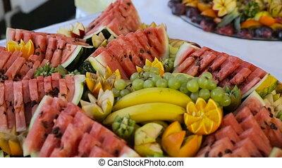 dessert bar at a wedding