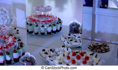 Dessert Buffet. Cakes on the Buffet Table.
