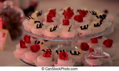 Dessert Buffet. Cakes on the Buffet Table.
