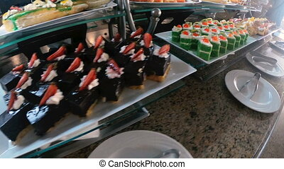 Dessert. Buffet with various sweets