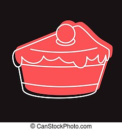 Dessert cake icon in doodle style vector illustration for design and web