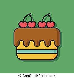 dessert cake vector icon