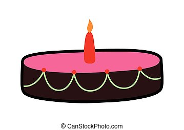 Dessert Cake with Candle