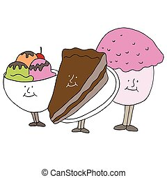 Dessert Cartoon Characters
