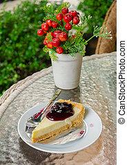 Dessert Cheesecake with Berries Sauce