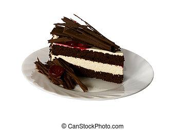 dessert, chocolade