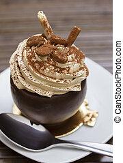 dessert, chocolat, moka