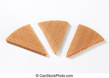 Fan wafer biscuits - Dessert decoration - Fan wafer biscuits