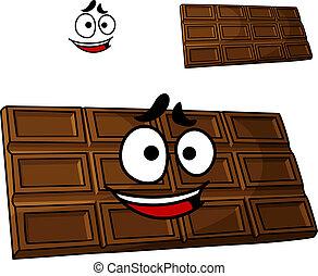 dessert, dessin animé, chocolat