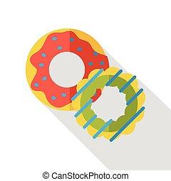 dessert donut flat icon
