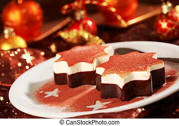 Dessert for Christmas - Dessert as Christmas star for ...