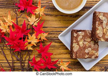 Dessert for Coffee Background / Dessert for Coffee / Chocolate Dessert for Coffee Background