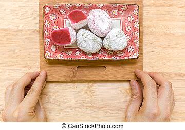 Dessert for Tea Background / Dessert for Tea / Dessert for Tea on Wooden Background