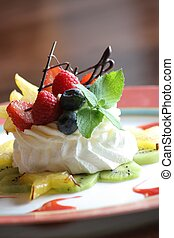 dessert, frutta