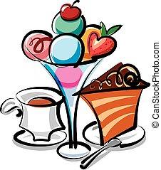 dessert, gelato