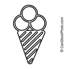 dessert, glace, délicieux, crème