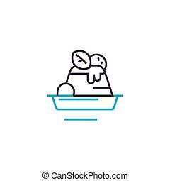 Dessert linear icon concept. Dessert line vector sign, symbol, illustration.