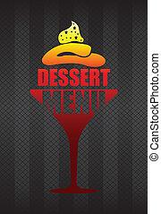 dessert menu background
