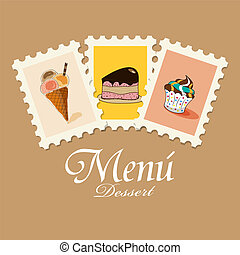 Dessert menu - Vector dessert menu pattern