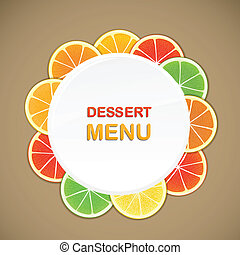 Dessert menu vector template