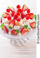 dessert, meringue-based