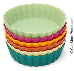 Dessert Molds Silicone - Colorful silicone dessert molds in...