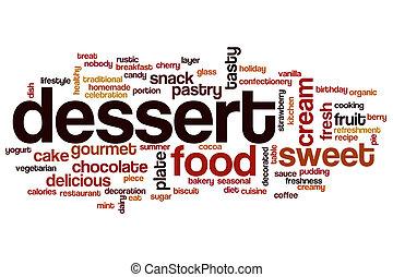 dessert, mot, nuage