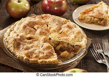 dessert, organico, mela, casalingo, torta