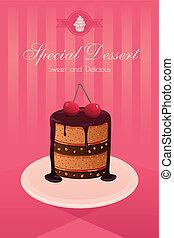 Dessert poster - A vector illustration dessert poster design