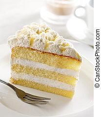 dessert - delicious slice of cake, shallow depth of field