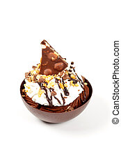 Dessert. sundae Mousse Brownie Cup