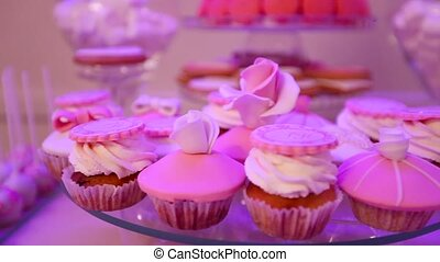 Dessert table for party, Beautiful cupcakes, reception