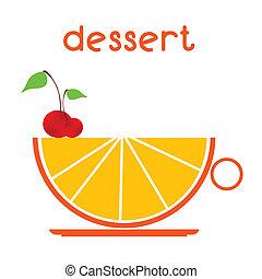 dessert, vecteur, illustration