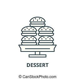 Dessert vector line icon, linear concept, outline sign, symbol