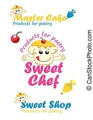 desserter, samling, logos