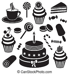 Desserts and sweets icon - Black desserts and sweets icon ...
