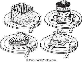 desserts, griffonnage