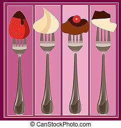 desserts - illustration in a ilustrador eps file