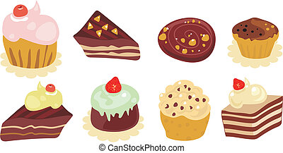Desserts Set - Desserts set with various homemade delicious ...